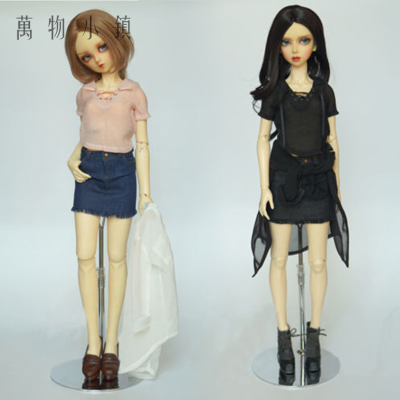 NEW 1/3 SD DD BJD Doll Clothes Deep Blue/Black Sweet Girl Jeans Short skirts/Skirt/Outfit handsome grey woolen coat belt for bjd 1 3 sd10 sd13 sd17 uncle ssdf sd luts dod dz as doll clothes cmb107