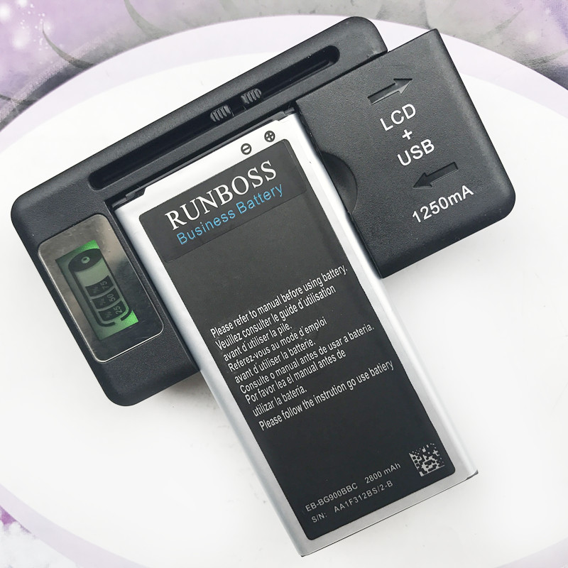 EB-BG900BBC 2800mAh Battery For Samsung Galaxy S5 G900 G900S G900I G900F G900H i9600 G870 G870A Batteries With LCD Charger