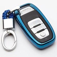 TPU Remote Smart Key Cover Case Fob For Audi A1 A3 A4 A5 A6 A7 A8 Quattro Q3 Q5 Q7 2009 2010  2012 - 2015 Car Accessories beler new black pu leather at shift knob gaiter for audi a3 a4 a5 a6 q7 q5 2009 2010 2011 2012 2013 2014 2015 left hand drive