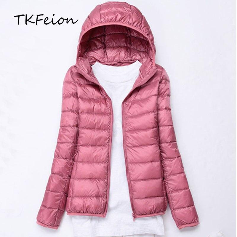 Frauen Herbst Jacke 2018 Winter Damen Mit Kapuze Mode Mantel Leichte Ente Unten Weibliche Dünne Mantel Outwear Plus Größe 4xl 5xl 6xl Frauen Kleidung & Zubehör