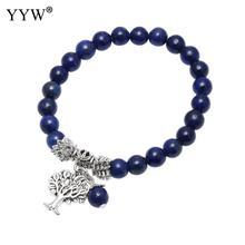 20style 8mm Natural Stone Lapis Lazuli Bracelets Tree Of Life Bracelet Mala Meditation Energy Bangles Unisex Beads Reiki Healing