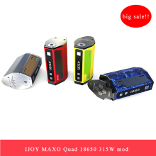 Clearance IJOY MAXO Quad 18650 315W Box Mod e-cig TC Battery full temperature control and firmware-upgradeable chipset big power