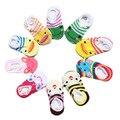 5 par/lote 0-2year Bebé Infantil Unisex Calcetines antideslizantes de Algodón de Dibujos Animados Calcetines del Piso de Goma Para Caminar Al Aire Libre Zapatos De Imitación