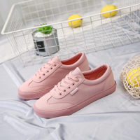 Women Canvas Shoes Vulcanized Shoes Pink Sneakers 2018 New Spring Autumn Casual Shoes Flats Solid Color Chaussure Femme 35 40