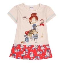 цены Girls Kids Baby Short Sleeve Dress Summer New Printed Round Neck Cotton Short Sleeve Dress for Kids Wearing Tutu Dress H6952K