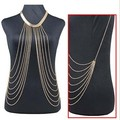 Gold Sexy Body Chain Women Necklaces&Pendants Tassel Alloy Punk Long Necklace 2015 New Designer Female Fashion Jewelry XL-375