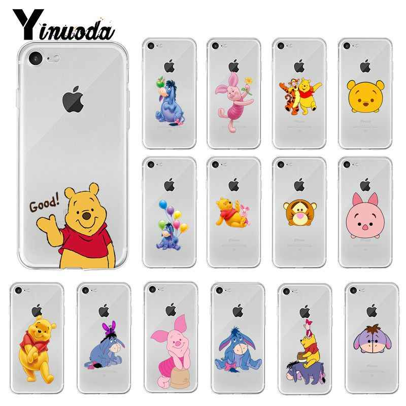 Yinuoda Cute Winnie Pooh Tigger Piglet Eeyore Phone Case For Iphone X Xs Max 6 6s 7 7plus 8 8plus 5 5s Se Xr 10 11 Pro Max