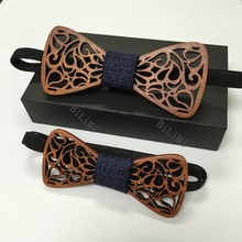 цена на New Fashion Wood Bow Tie for Father And Son Bowtie Butterflies parent child suit wooden bowtie free shipping