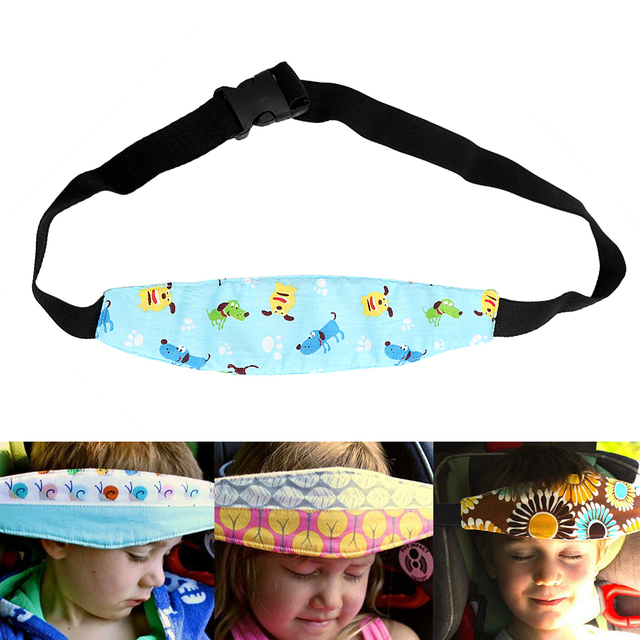 Child Safety Chair Belt Car Seat Headrest Strap Head Cover For Kids Bady Sleeping Support