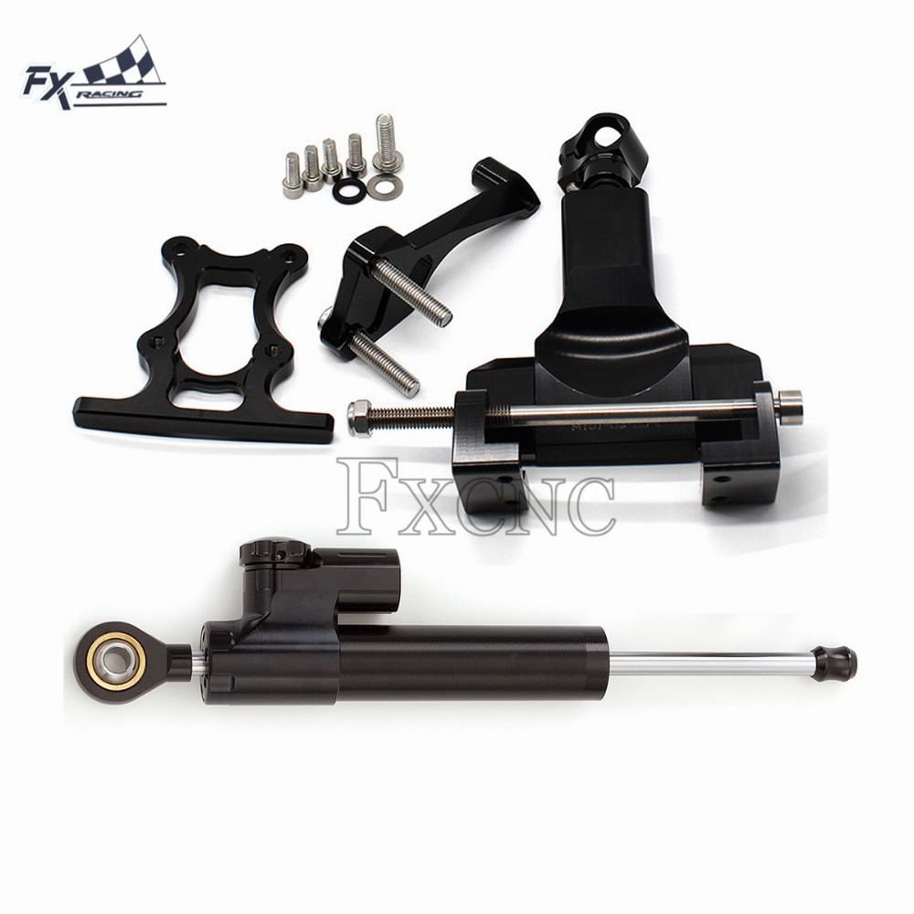 US $29 47 22% OFF CNC Motorcycle Stabilizer Steering Damper Mounting  Bracket Support Kit For Yamaha MT07 FZ07 MT 07 FZ 07 MT 07 2014 2017  2015-in