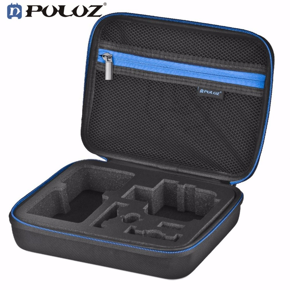 PULUZ Storage Camera Bag Compact Waterproof Carrying Travel Case For GoPro Protective Portable Accessories Box S/M/L Size bubm ys waterproof multipurpose portable digital accessories storage bag royalblue size s