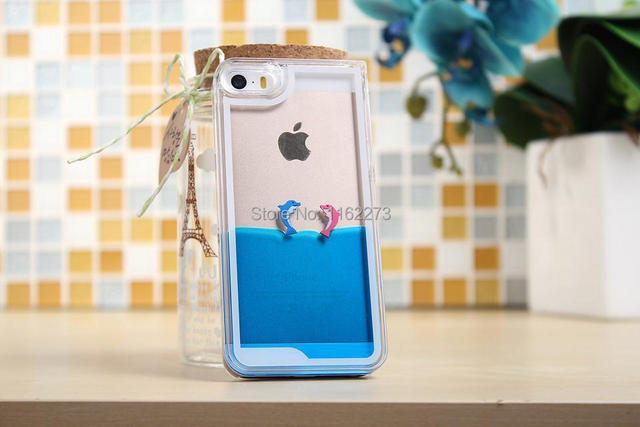 promo code 1fb28 cc297 US $289.89 |Dynamic Liquid Magical Flowing Water Injected Case Aqua Fish  Case for iPhone 5 5S Ocean Dolphin Case on Aliexpress.com | Alibaba Group