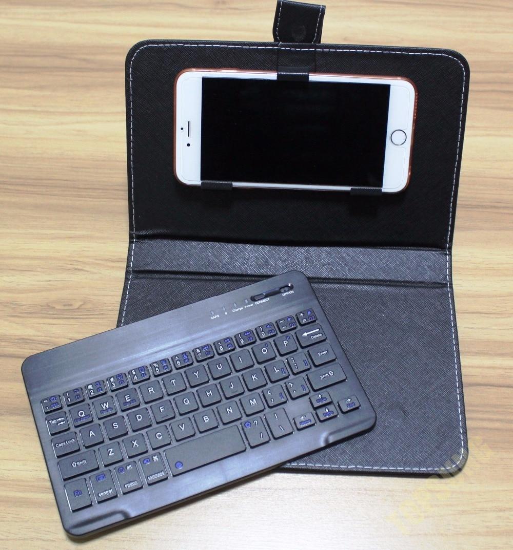 bilder für 9 farben drahtlose Bluetooth Tastatur Pu-leder Handy Fall Stehen für iPhone 7 6 6 S Lenovo Samsung Huawei Xiaomi ZTE Sony