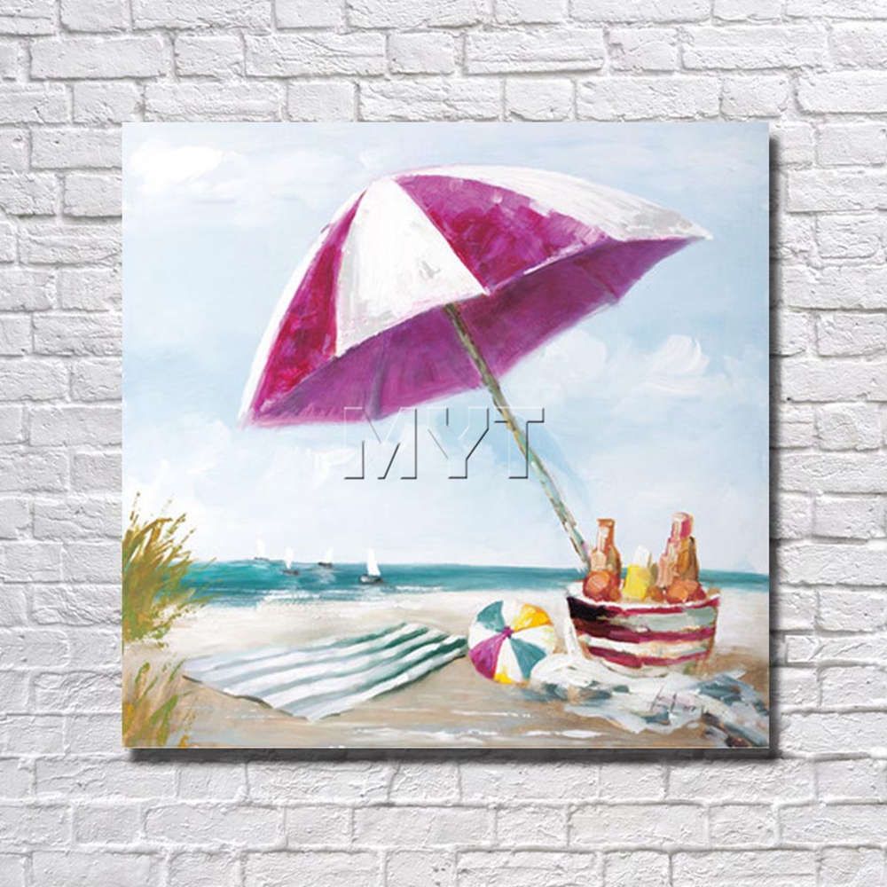 Summer Beach Painting Wall Art Home Decoration Living Room ...