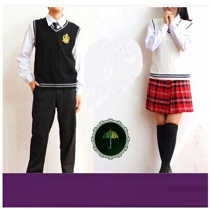 8d450e826 € 34.01 6% de DESCUENTO Espana coreana japonesa uniforme de la escuela  hombres y mujeres ropa para la escuela uniforme escolar traje suéter  chaleco ...