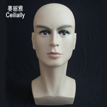 Free Shipping Male Mannequin Head For Wig Glasses Display Realistic Plastic Men Maniqui Dummy Head Manikin