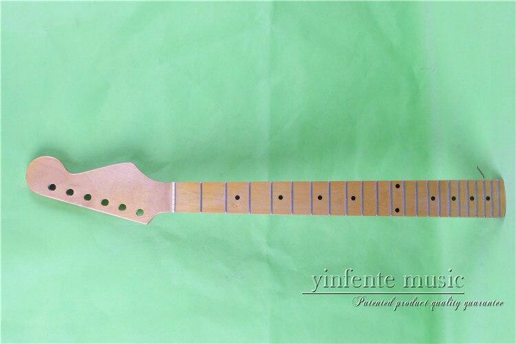 """0022 # 25.5 """"황색 일렉트릭 기타 목 메이플은 메이플 핑거 보드에 볼트를 만들었습니다. 고급 22 프렛"""