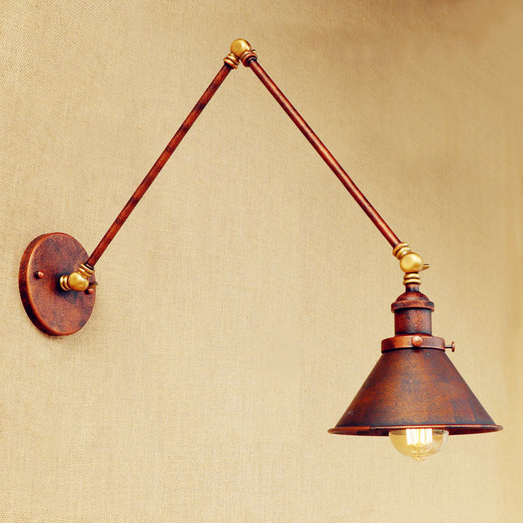 Arandela Retro Loft Industrial Wall Lamp Vintage Wandlamp Swing Long Arm Wall Light Fixtures Edison Wall Sconce Applique Murale