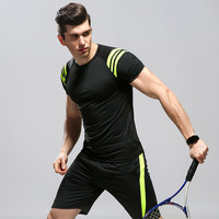 Badminton Short Sleeve Shirt And Shorts Men's table Tennis Jersey Fitness Clothing Breathable Yoga Sportswear Running Clothes