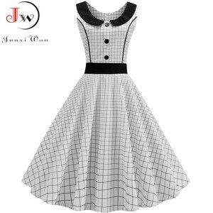 Image 5 - Robe de soirée rétro, noir, imprimé à pois, Vintage, taille 50s 60s, Pin Up, tenue de soirée, Rockabilly, été