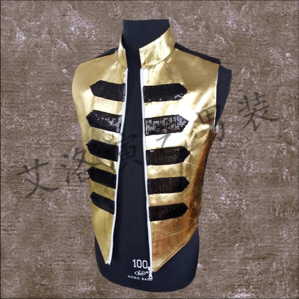 2019 Neue Männer Kleidung Mode Dj Sängerin Die Hand Genäht Rüstung Weste Mantel Der Host Plus Größe Rock Tanzen Kostüme S-6xl Herrenbekleidung & Zubehör