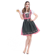 German Oktoberfest Bavarian traditional beer dress Festival party ball suit spot Halloween Holiday