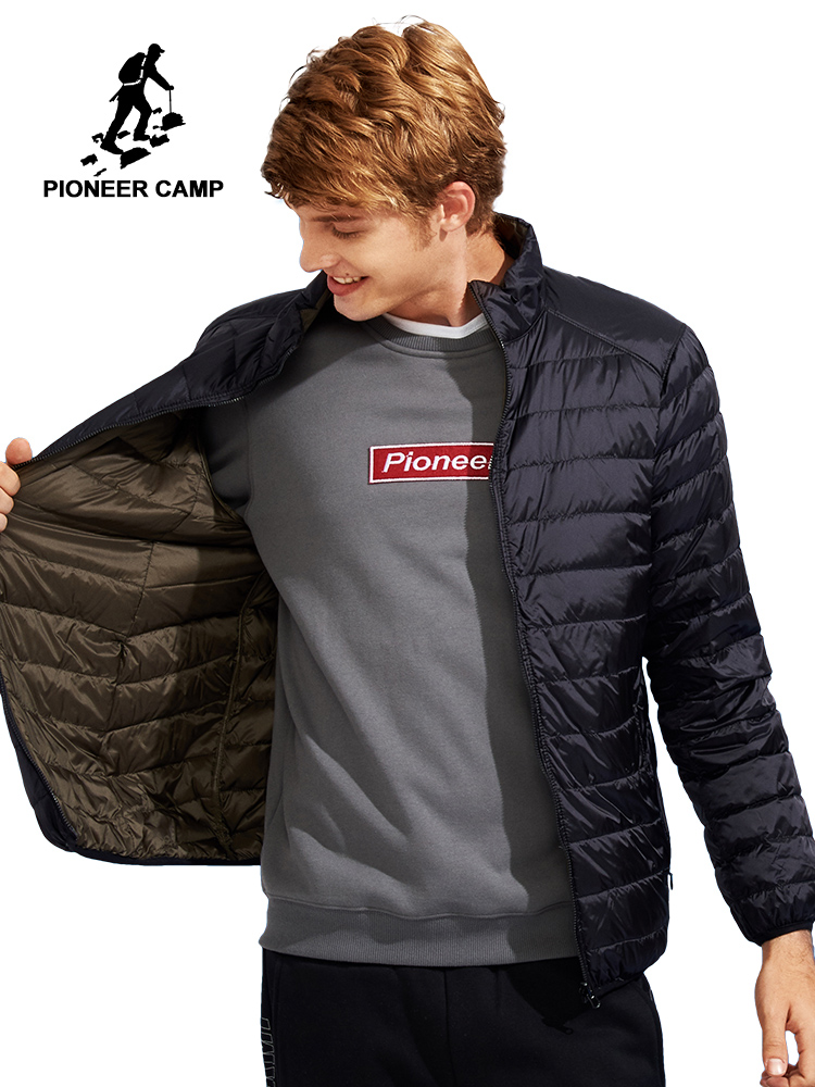 Pioneer Camp reversible   down   jacket men brand-clothing ultra light packable duck   down     coat   male ultra thin top quality