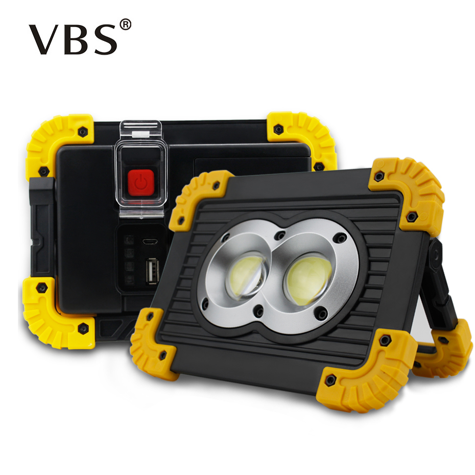 Portable Flood Lamp Cob Work Light Triangle Warning Light Sos Searchlight Emergency Warning Traffic Light Spotlight Rechargeable Vivid And Great In Style Portable Spotlights