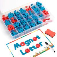 D FantiX Magnetic Letters 208 Pcs Uppercase Lowercase Foam Alphabet ABC Magnets for Fridge Refrigerator Educational Toys Set
