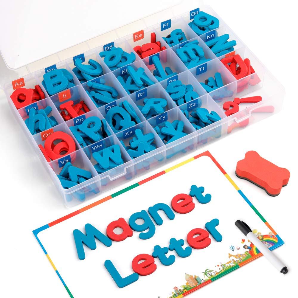 D-fantix lettres magnétiques 208 pièces majuscules minuscules mousse Alphabet ABC aimants pour réfrigérateur réfrigérateur jouets éducatifs ensemble