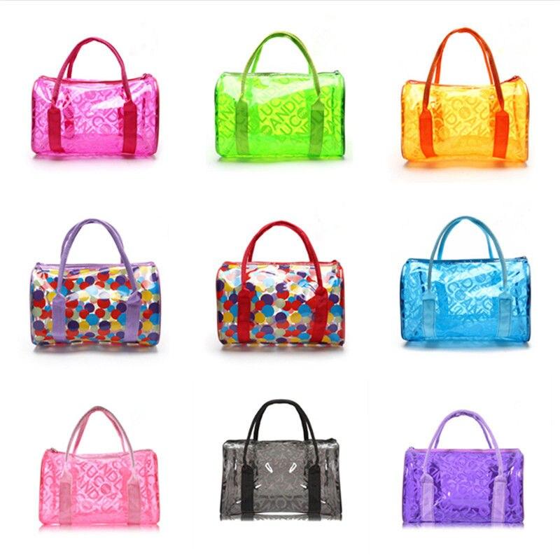 d836876c84 Women Swimming Bag Waterproof Handbags Transparent PVC Plastic Pool Beach  Bags Organizer Sack Swimsuit Letter Print Tote XA318WA-in Swimming Bags  from ...