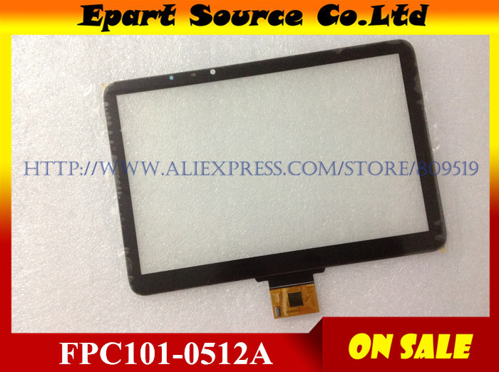 A+  Black  FPC101-0512A 10.1 inch Tablet PC Capacitive Touch Screen Panel Digitizer Sensor Replacement Parts IC:FT5606NED brand new 10 1 inch touch screen ace gg10 1b1 470 fpc black tablet pc digitizer sensor panel replacement free repair tools