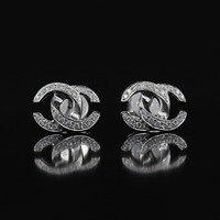 Lasamero 0.21ctw круглая огранка природных алмазов кластера Серьги 18 К белое золото Diamond Halo Серьги гвоздики Ювелирные украшения серьги гвоздики