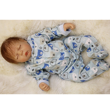 Silicone Lifelike Reborn Boy Baby Doll 20 Inch 50 cm Realistic Alive Newborn Babies Cloth Body Dolls Toy Kids Birthday Xmas Gift