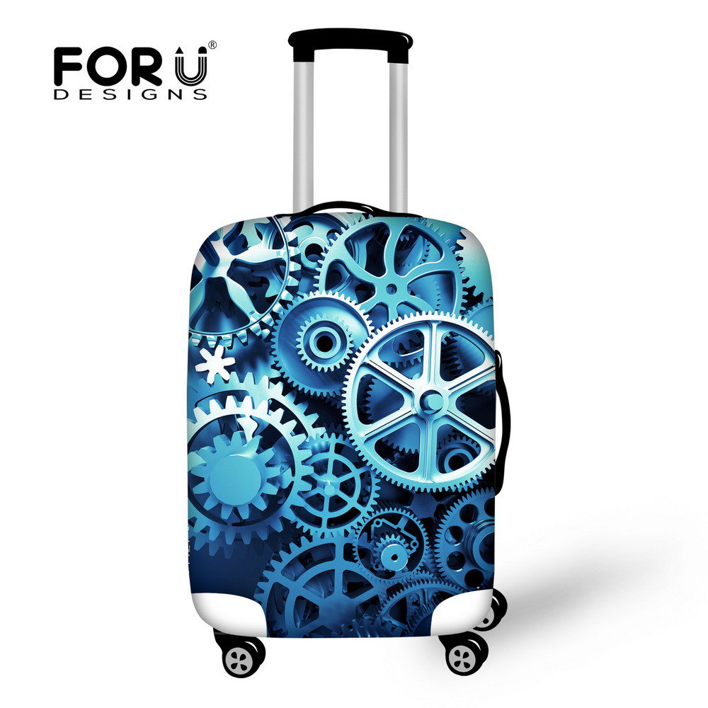Designer Vintage Style Brand Travel Suitcase Tronc Cover Elastic Stretch Waterproof Fashion Luggage Cover For 18 to 30 Inch Case