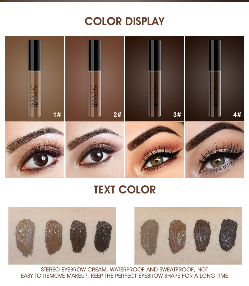 49dd8bb5efc IMAGIC 4 Colors Long Lasting Waterproof Eyebrow Mascara Cream Eye Brow  Shadow Makeup Beauty Tools Eyebrow Gel Enhancer Eyebrow-in Eyebrow Enhancers  from ...