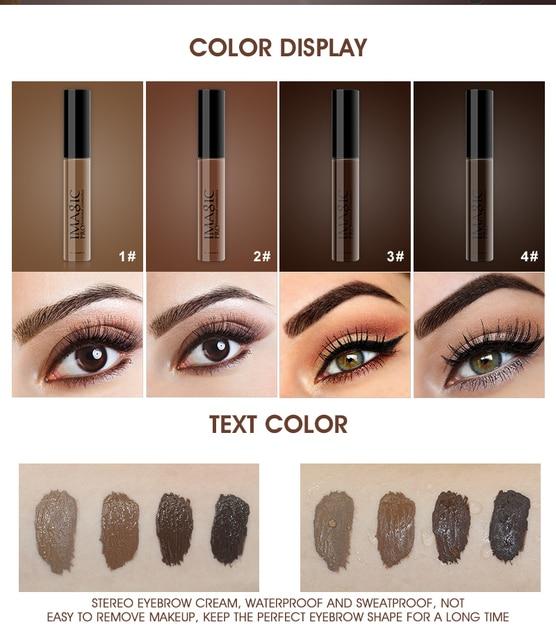IMAGIC 4 color durable waterproof eyebrow dyeing cream eyebrow shadow makeup beauty tool eyebrow gel enhancer eyebrows 1