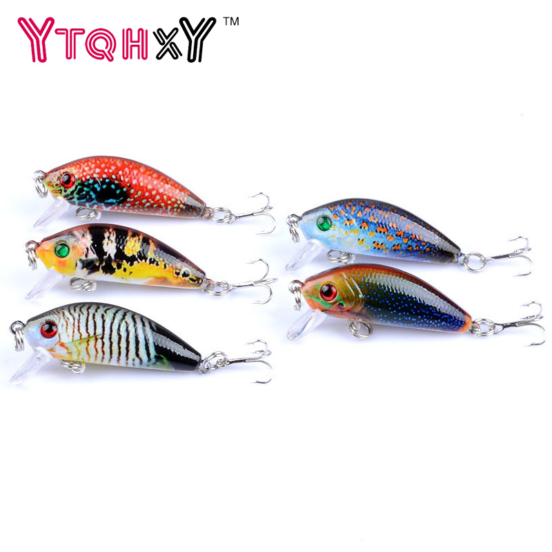 5Pcs/lot 3.8g 5cm Minnow Lure Fishing Tackle Fishing Kit Hard Bait 0.3-0.9m Jig Wobbler Plastic Lure Fishing Lure YE-382 wldslure 4pcs lot 9 5g spoon minnow saltwater anti hitch crankbait hard plastic plainting fishing lures bait jig wobbler lure