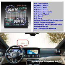 Liislee Car Projector Screen For Mercedes Benz E W211 E280 E300 E320- Safe Driving Refkecting Windshield HUD Head Up Display