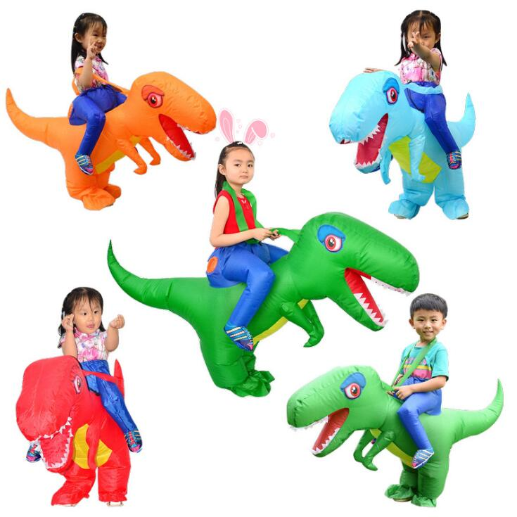 Inflatable Costume Children Kids Dinosaur T REX Costumes Blow Up Fancy Dress Mascot Cosplay Costume For Boys Girls
