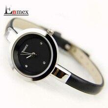 2016 festival Memorial Day cadeau Enmex femmes creative mince sangle montre-bracelet brève conception élégance de mode quartz lady montres