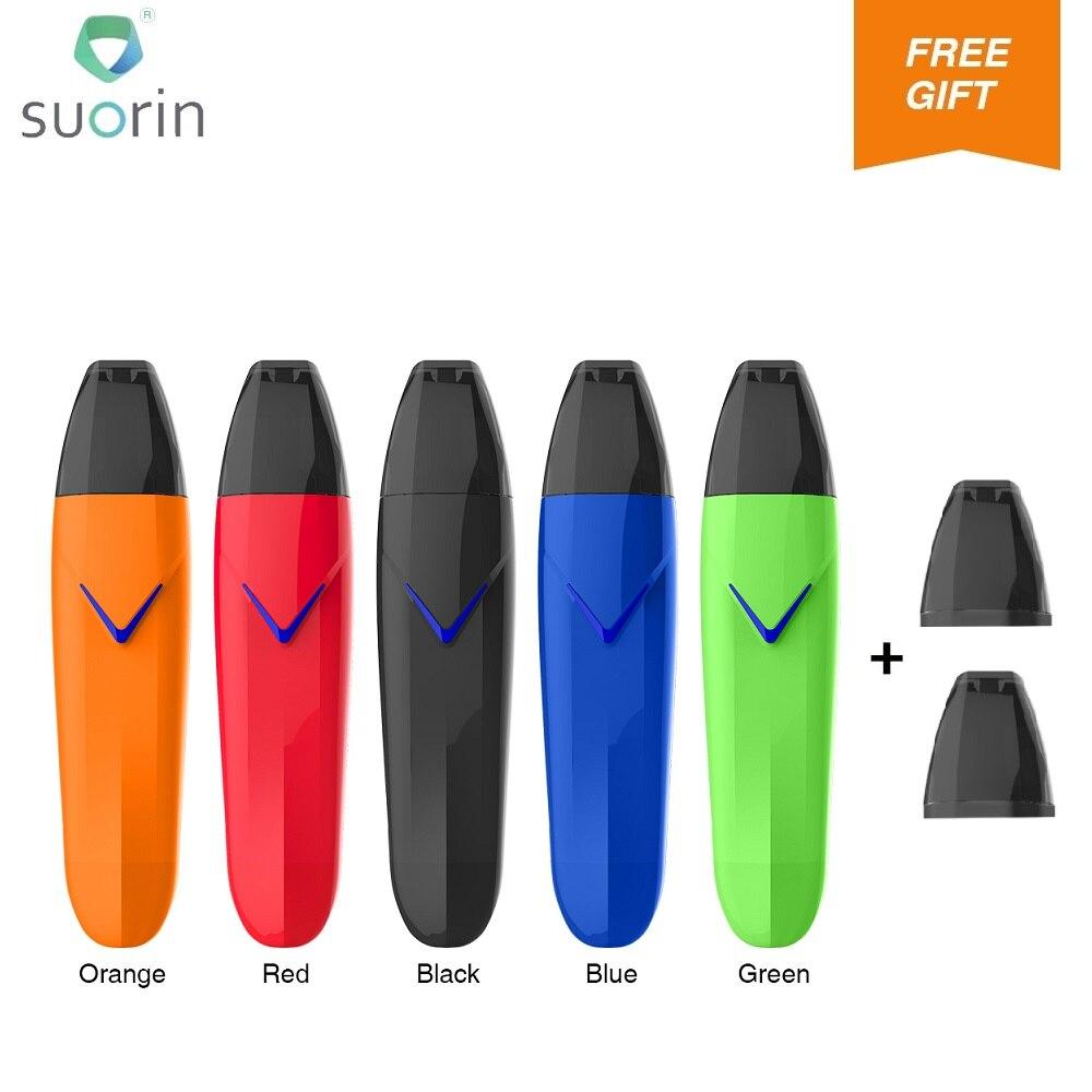 Free Pods!!! Original Suorin Vagon Starter Kit 430mAh Battery & 2ml Cartridge & AIO Kit For MTL Vape Ecig Pod Kit VS Suorin Air