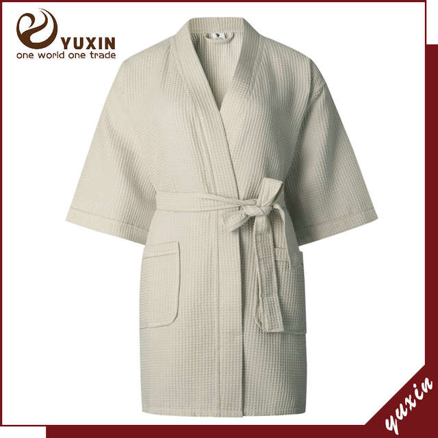 placeholder Ladies Womens Waffle Bath Robe 100% Cotton Dressing gown  Comfortable Nightwear Terry Robe hotel robe d1d2c0e89