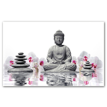 NAIYUE 5D Diamond Painting Cross Stitch Orchid Buddha picture Diamond Embroidery Diy Diamond Mosaic RESIN Home Decoration gift