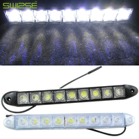 High Quality Flexible Universal 12 LED Daytime Running Light Car COB DRL Driving Fog Light For