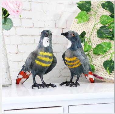 WYZHY Simulation feather cuckoo bird specimen home decoration ornaments Christmas decoration gift 26CMx9CMx16CM in Real Life Plush from Toys Hobbies