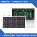 P8 waterproof panel 256*128mm Full Color 1R1G1B DIP Outdoor LED Module for LED Video Display panel Sign billboard event screen