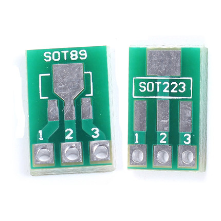 20pcs/lot SOT89 SOT223 To DIP PCB Transfer Board DIP Pin Board Pitch Adapter Keysets In Stock