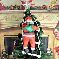 Quente grande 60/80cm natal noel natal papai noel boneca com escada para dar presente sint nicolaas decoração da árvore de natal est