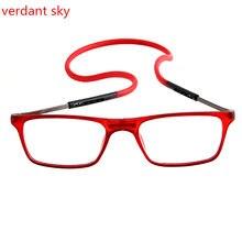 44cd2f84bb TR90 superelasticity gafas de lectura magnética de las mujeres de los  hombres de plegable imán gafas